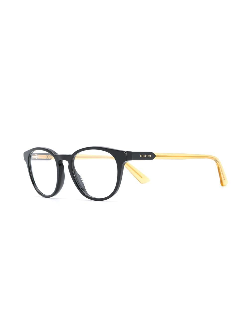40ce8b97fda Lyst - Gucci Oval Frame Glasses in Yellow for Men