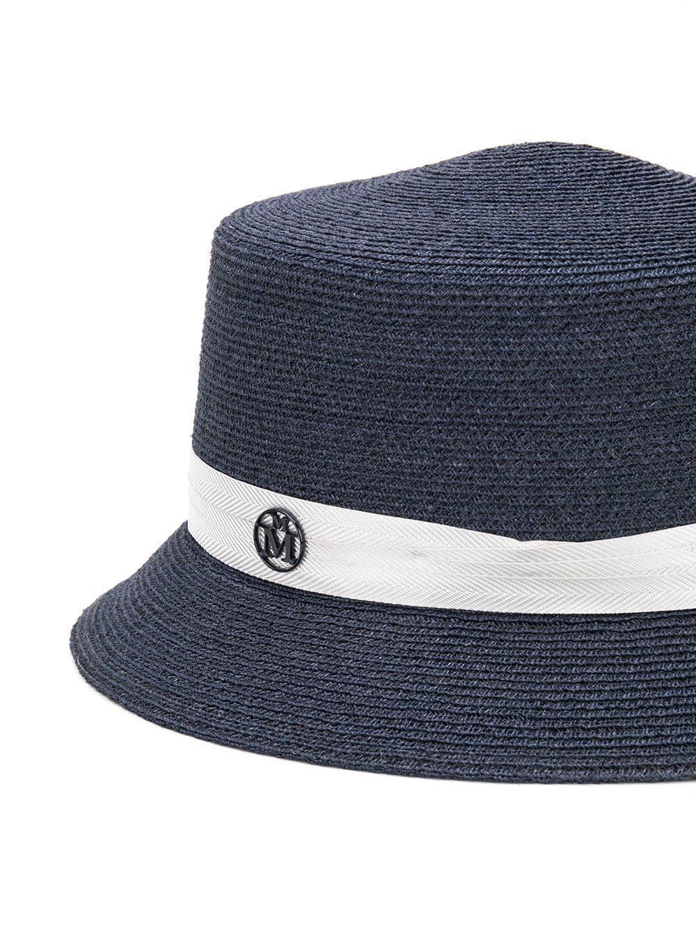 Lyst - Maison Michel Arsene Cloche Hat in Blue 790d03194cca