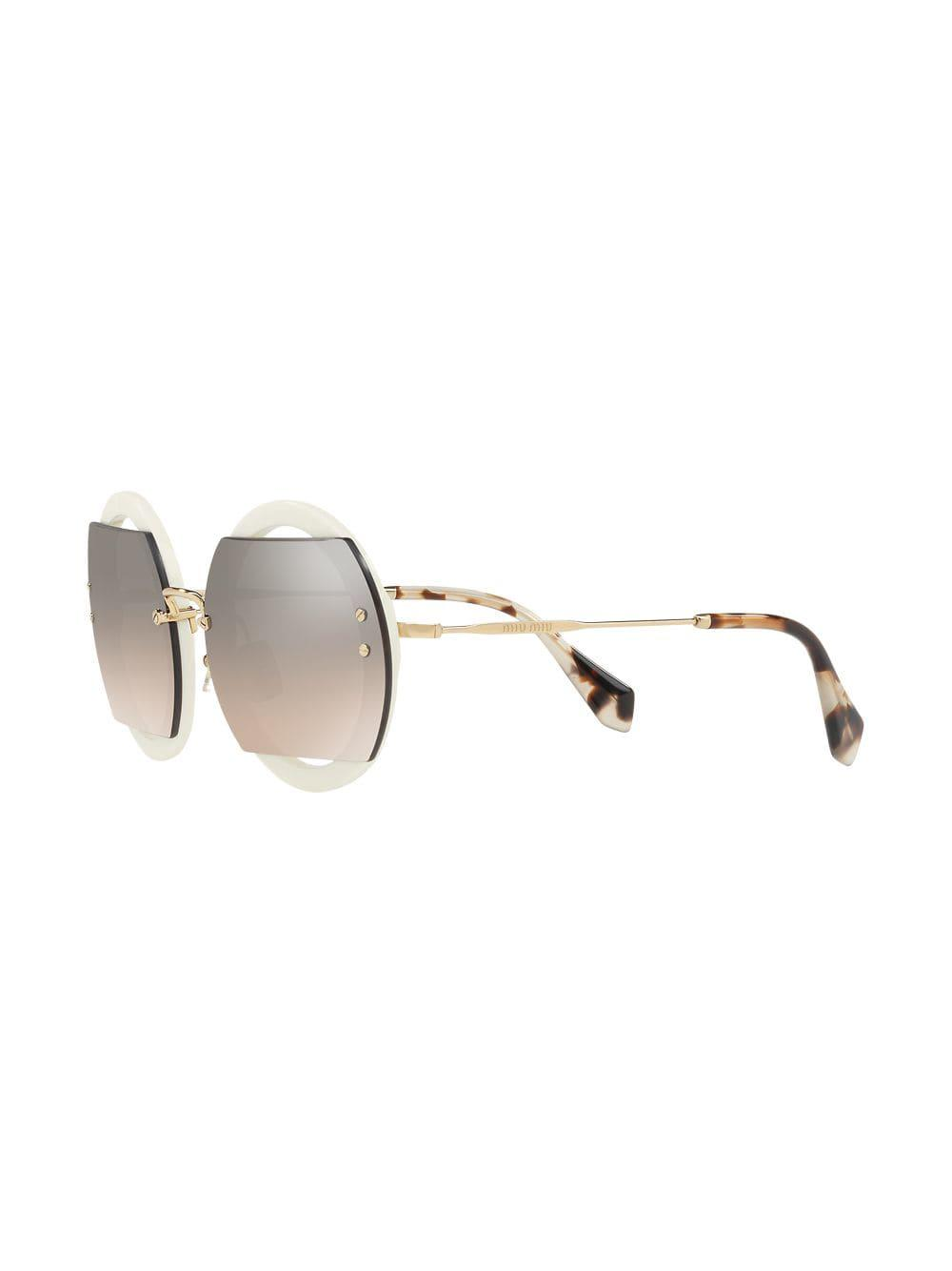 ef1be6f1e99 Miu Miu Circle Sunglasses - Lyst
