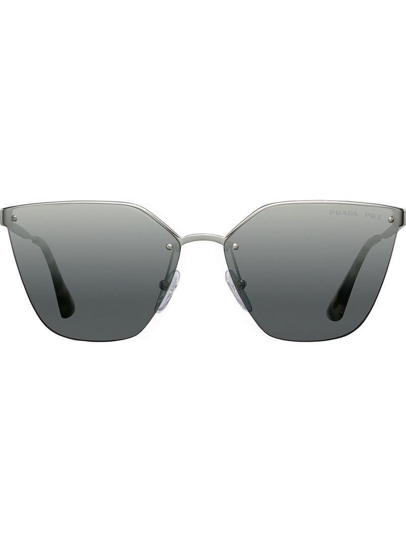 5668b81736ce4 Prada Prada Cinéma Sunglasses in Metallic - Lyst