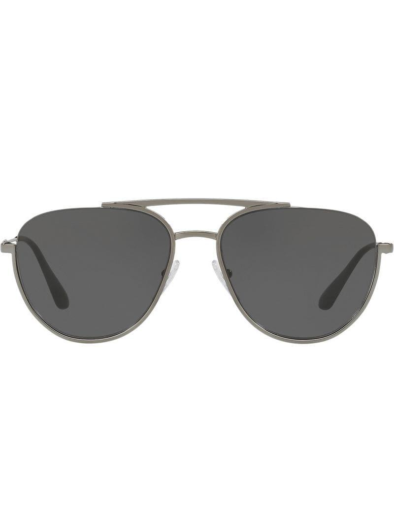 0e4f9b085d1 Prada Aviator Shaped Sunglasses in Gray for Men - Save ...