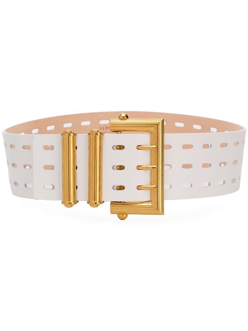 683580d4c5 Versace Tribute Waist Belt in White - Lyst