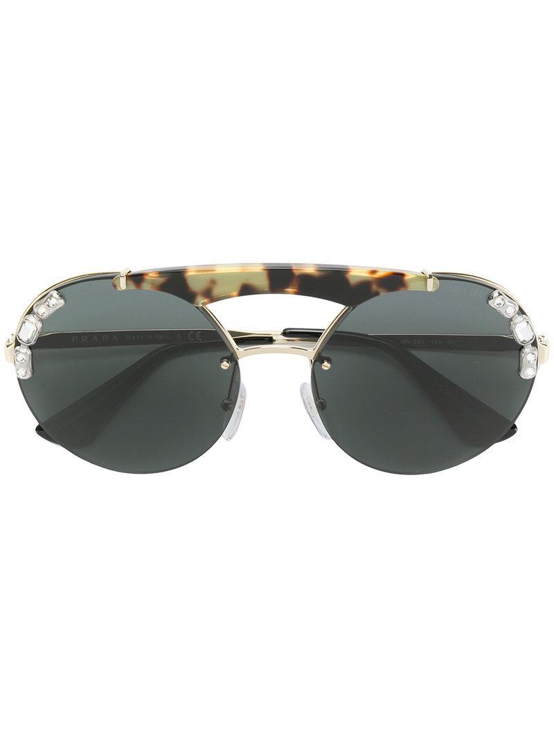 9cdc2c517e ... Jewelled Runway Sunglasses - Lyst. View fullscreen