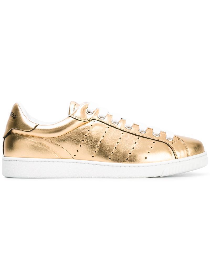 ee4ea7df1fb DSquared² Santa Monica Sneakers in Metallic for Men Lyst