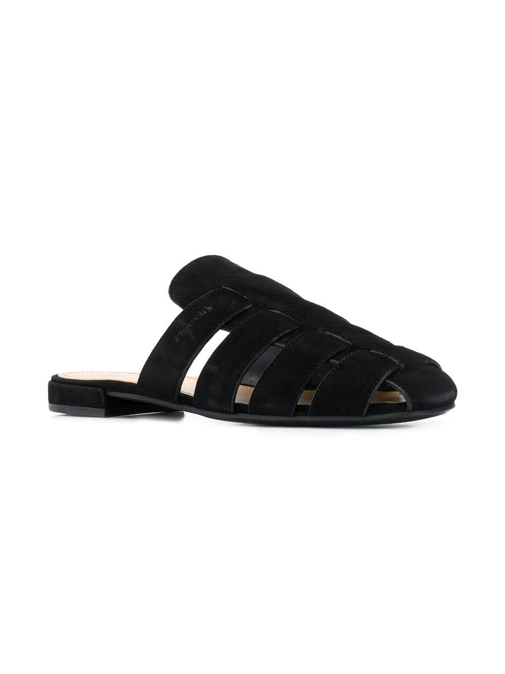 0390f29552a6 Lyst - Church S Leather Mule Slides in Black