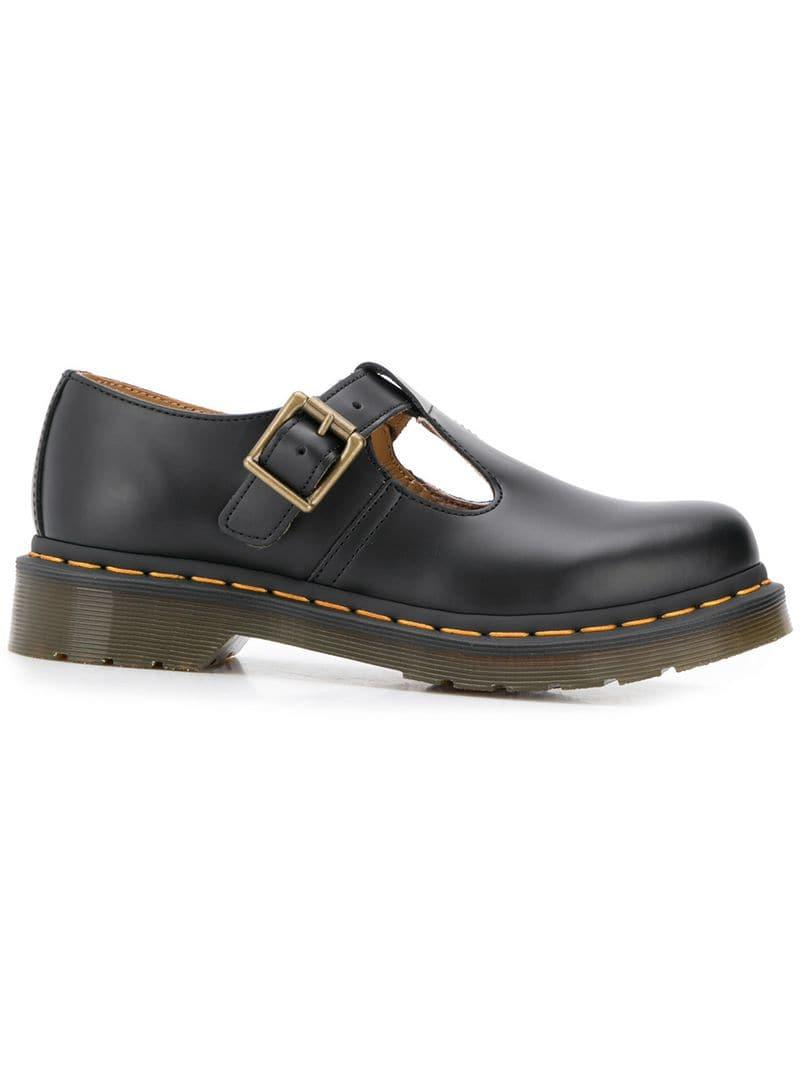 7de4ed0a7585 Lyst - Dr. Martens Polley Smooth Shoes in Black