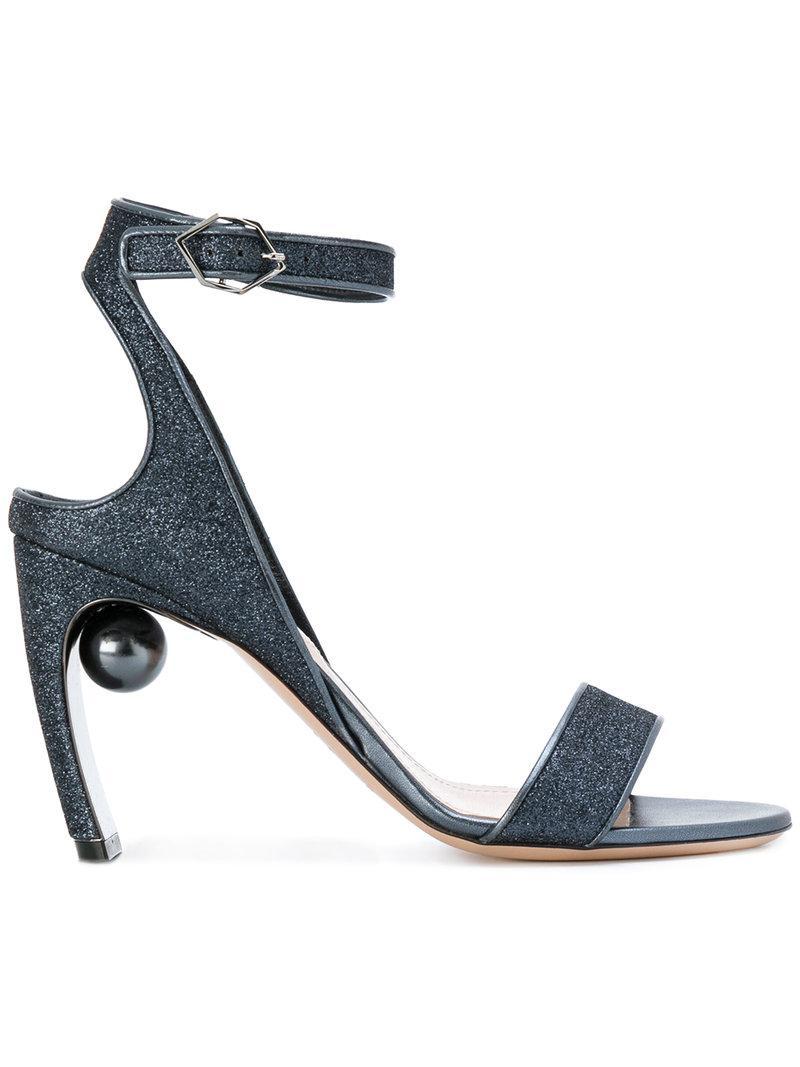 Nicholas Kirkwood. Women's Blue Lola Pearl Sandals