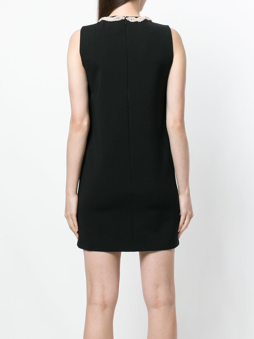 1e0b1c120456 Gucci - Black Pearl Tassel Neckline Mini Dress - Lyst. View fullscreen