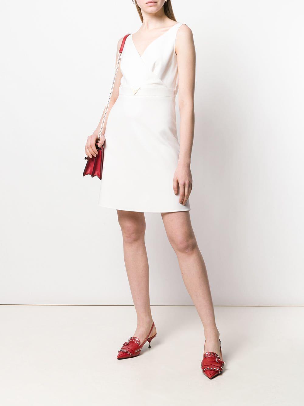 908ab010b2 Valentino - White V Hardware Dress - Lyst. View fullscreen