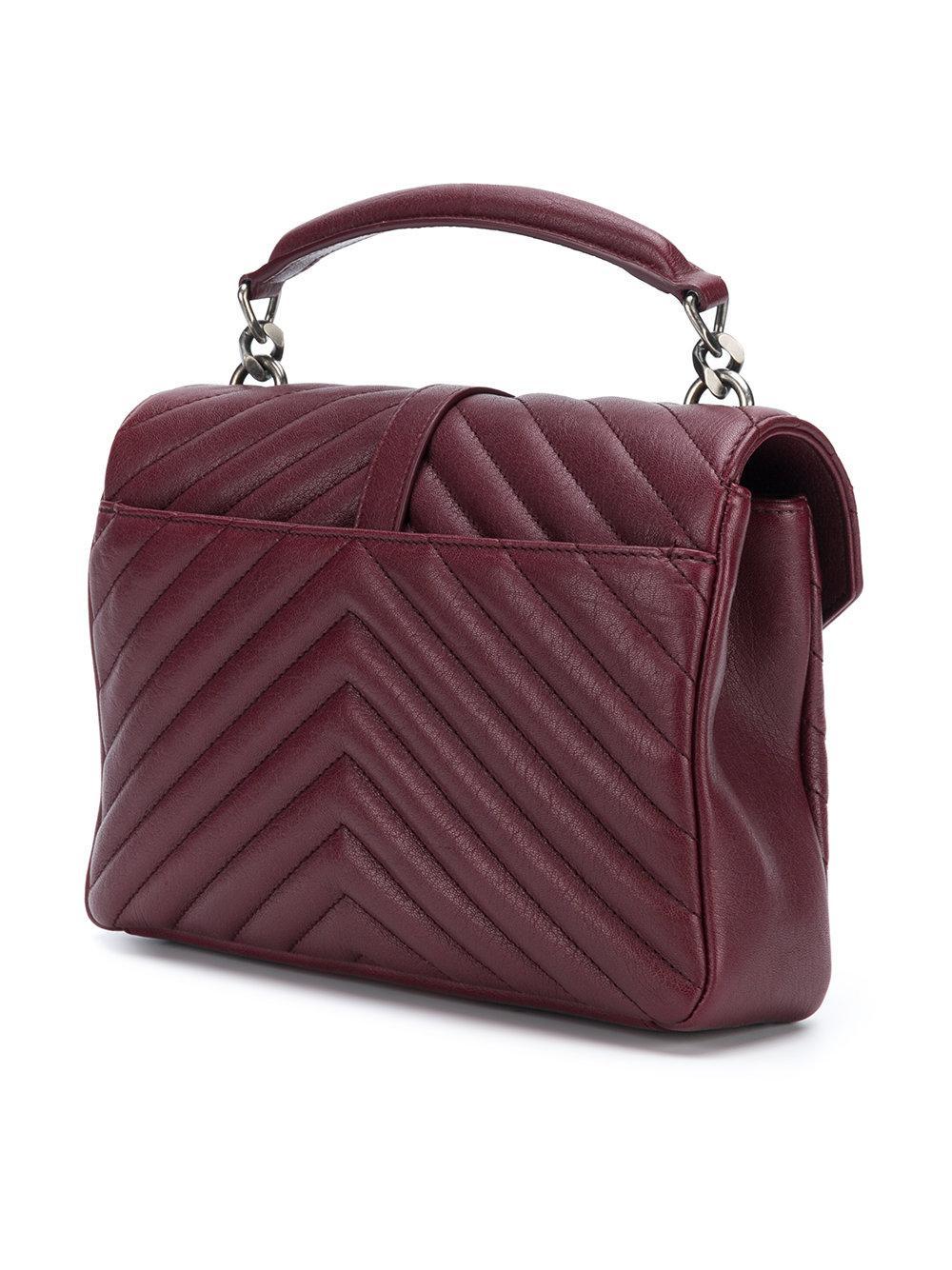 Collège shoulder bag - Pink & Purple Saint Laurent AnzPWmADfx