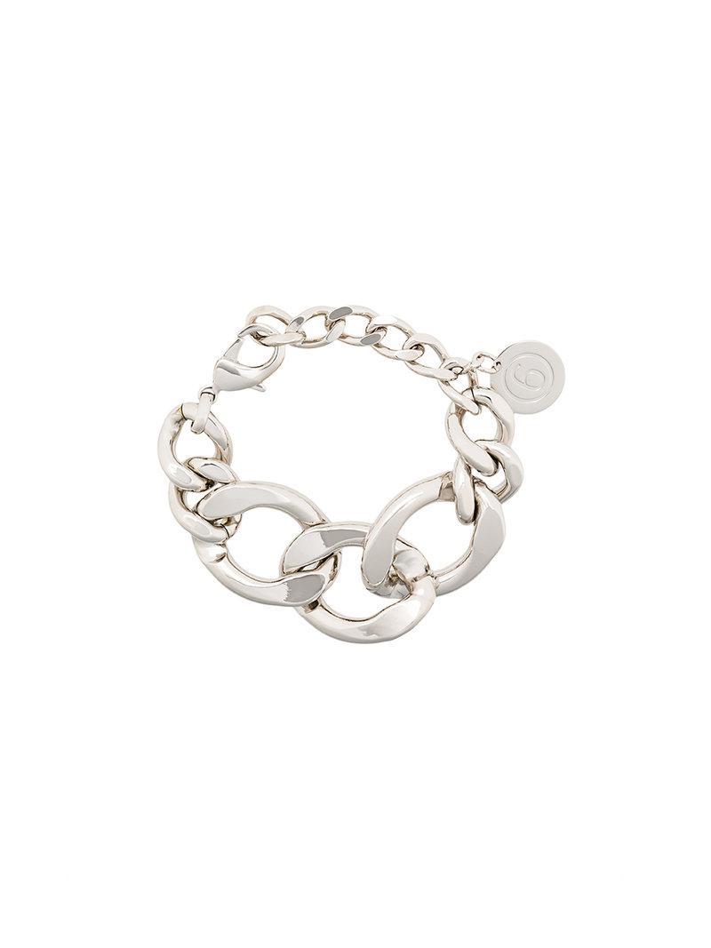 Maison Martin Margiela oversized cable chain bracelet - Metallic IFPCFtiHC