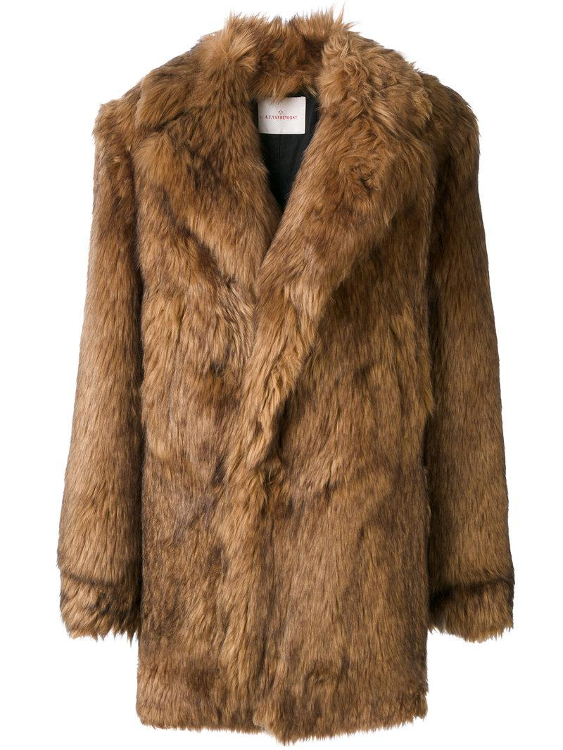 Sale Buy Cheap Real Finishline A.F.Vandevorst faux fur coat Cheap Sale Cheapest Price Purchase Best Selling IYJmhS4
