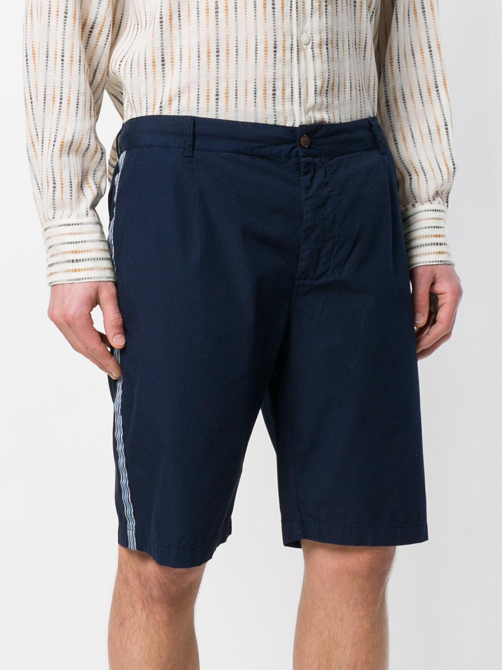 Wide-leg Panelled Indigo-dyed Cotton Shorts Universal Works 9iQwTzth
