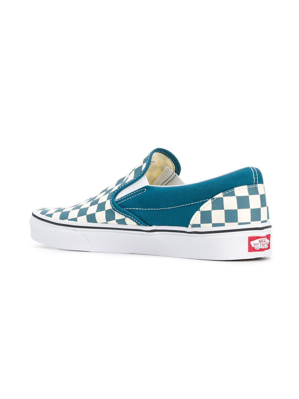 fd1d7f42a3fec6 Lyst - Vans Color Theory Checkerboard Sneakers in Blue for Men