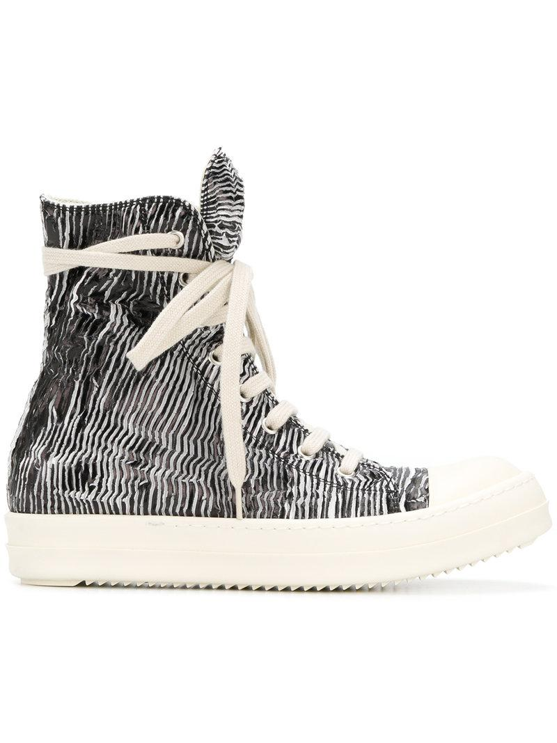 Looking For For Sale Rick Owens Zebra print sneakers With Credit Card Cheap Online Get The Latest Fashion Outlet Great Deals R9yjdu