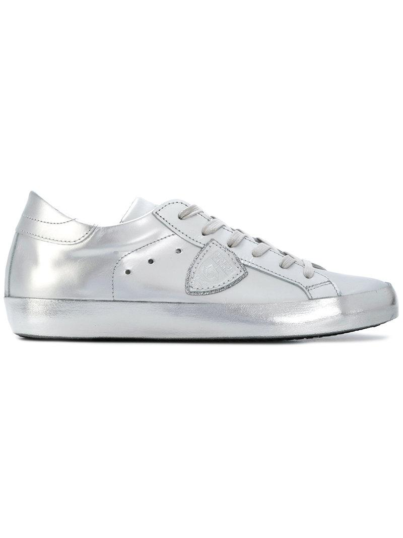 Philippe model Lateral patch metallic sneakers oyI7ZP