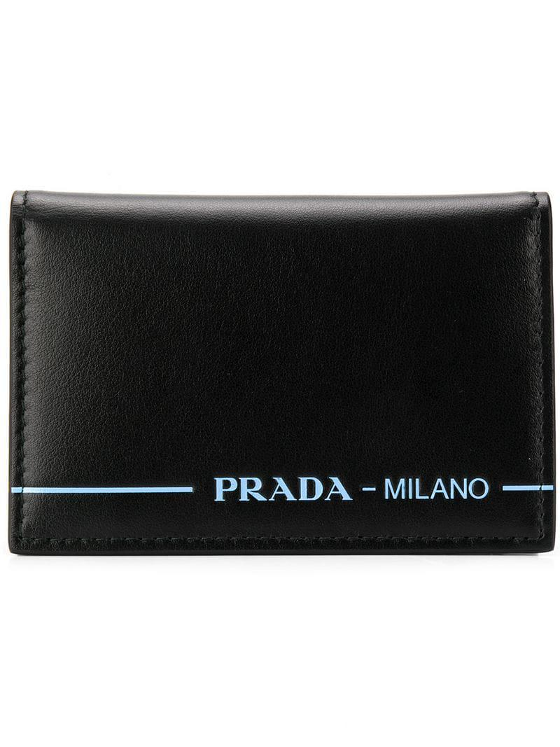 723ab12470cf14 Prada Vertical Card Case in Black for Men - Lyst