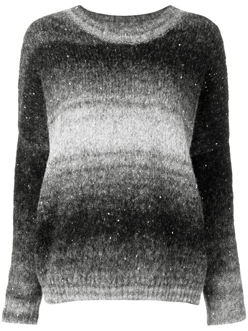 Noir Cable Sweater Fitted Snobby knit Sheep vZTqx5X