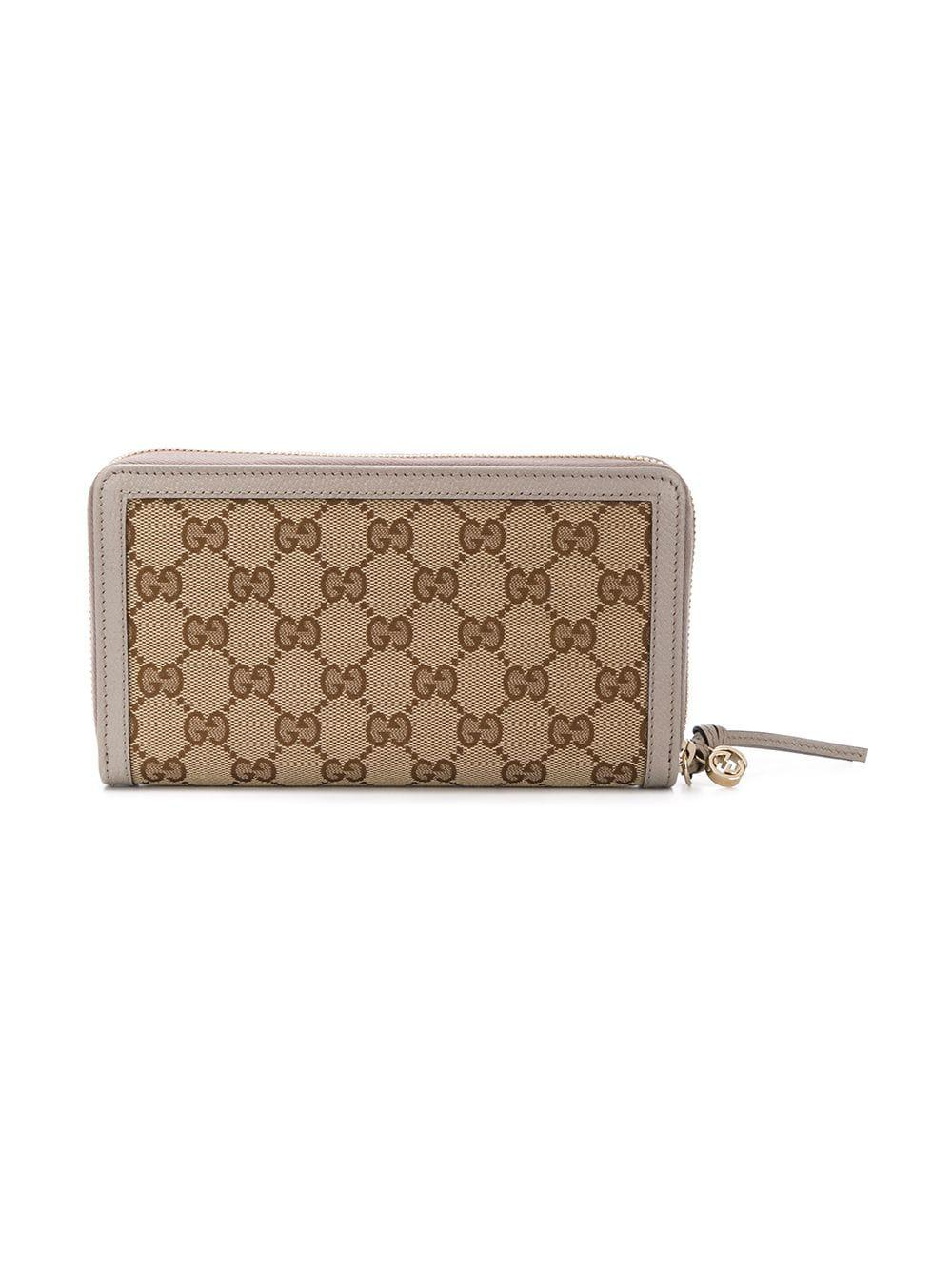 08445df42f70 Gucci GG Supreme Zip Around Wallet - Lyst