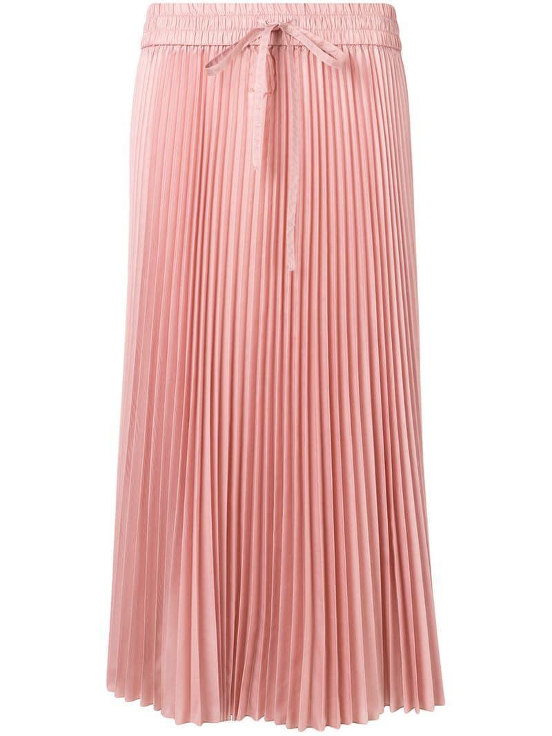 e47e2ac0e1 RED Valentino Pleated Midi Skirt in Pink - Save 3% - Lyst
