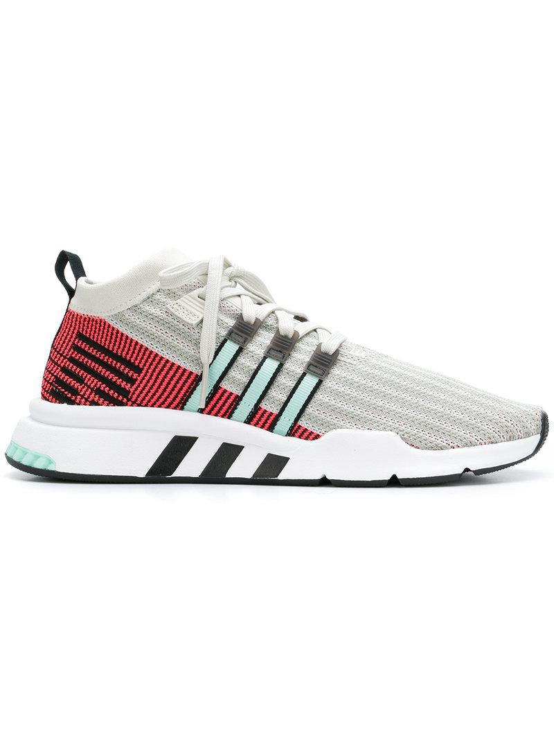 best service 395c8 74b3c Adidas - White Eqt Support Mid Adv Sneakers for Men - Lyst. View fullscreen