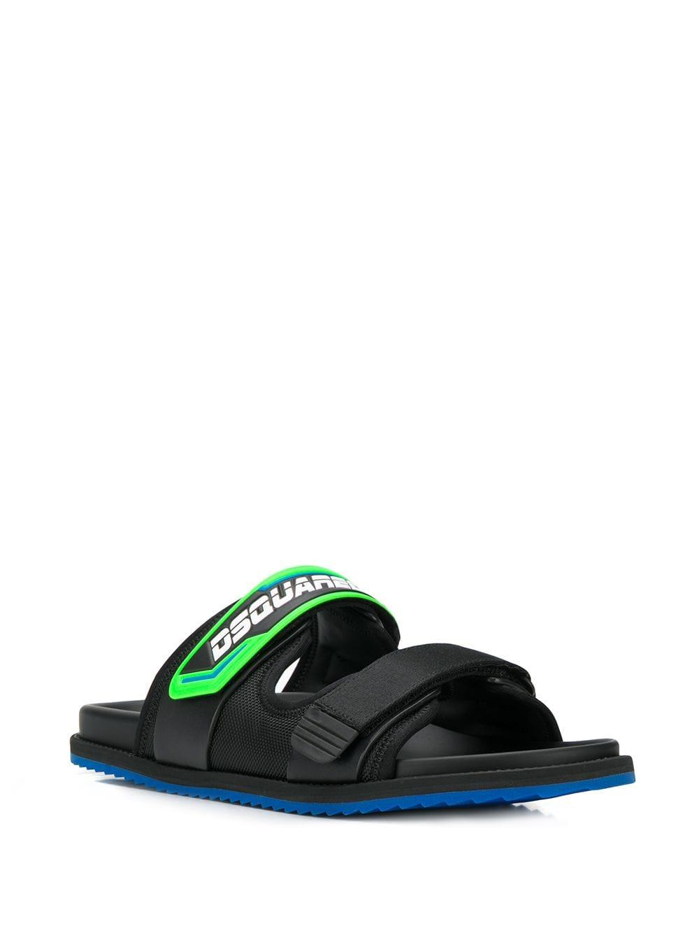 ec7101bee Lyst - DSquared² Logo Strap Sandals in Black for Men