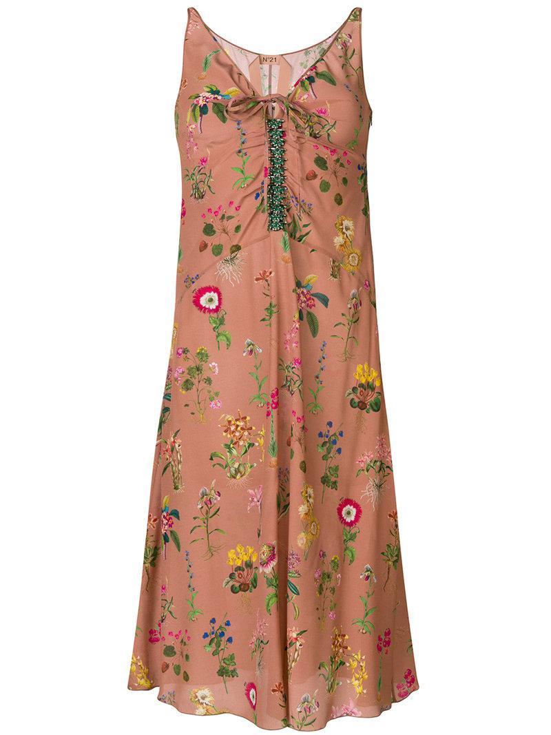 floral embroidered midi dress - Nude & Neutrals N°21 8cnXu