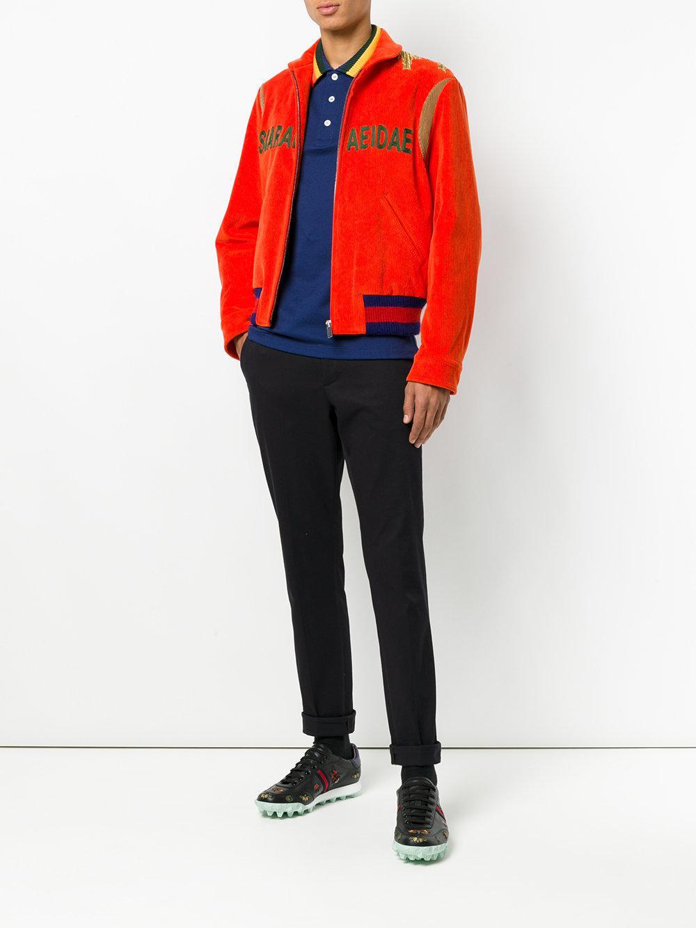 Lyst - Baskets Yello à détails brodés Gucci pour homme en coloris Noir dcc8134ab797