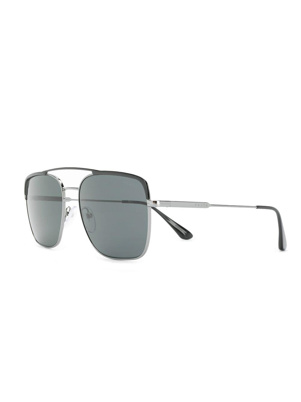 3994dc6ffc7 Prada Contrast Bridge Sunglasses in Black for Men - Lyst