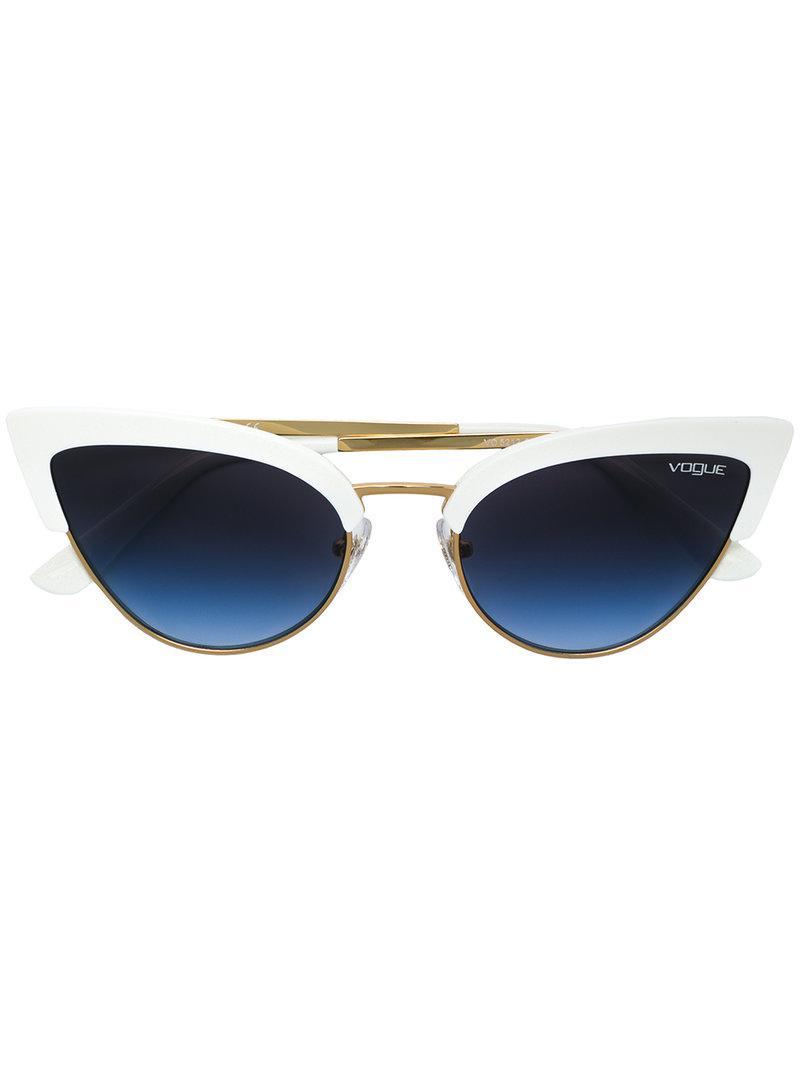 cb8f81a3652 Vogue Eyewear Cat Eye Sunglasses in White - Lyst