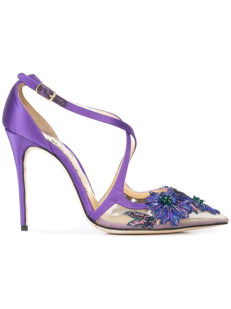 Daphne floral pumps - Pink & Purple Marchesa XWWXr