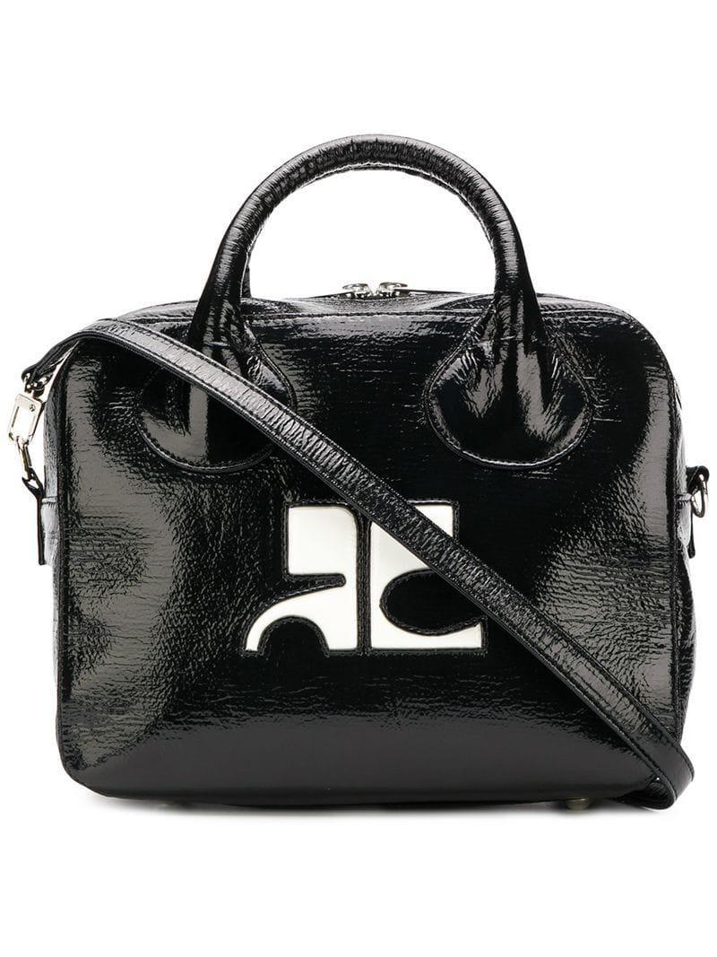 e5b5f941e41b Courreges - Black Contrast Logo Tote Bag - Lyst. View fullscreen