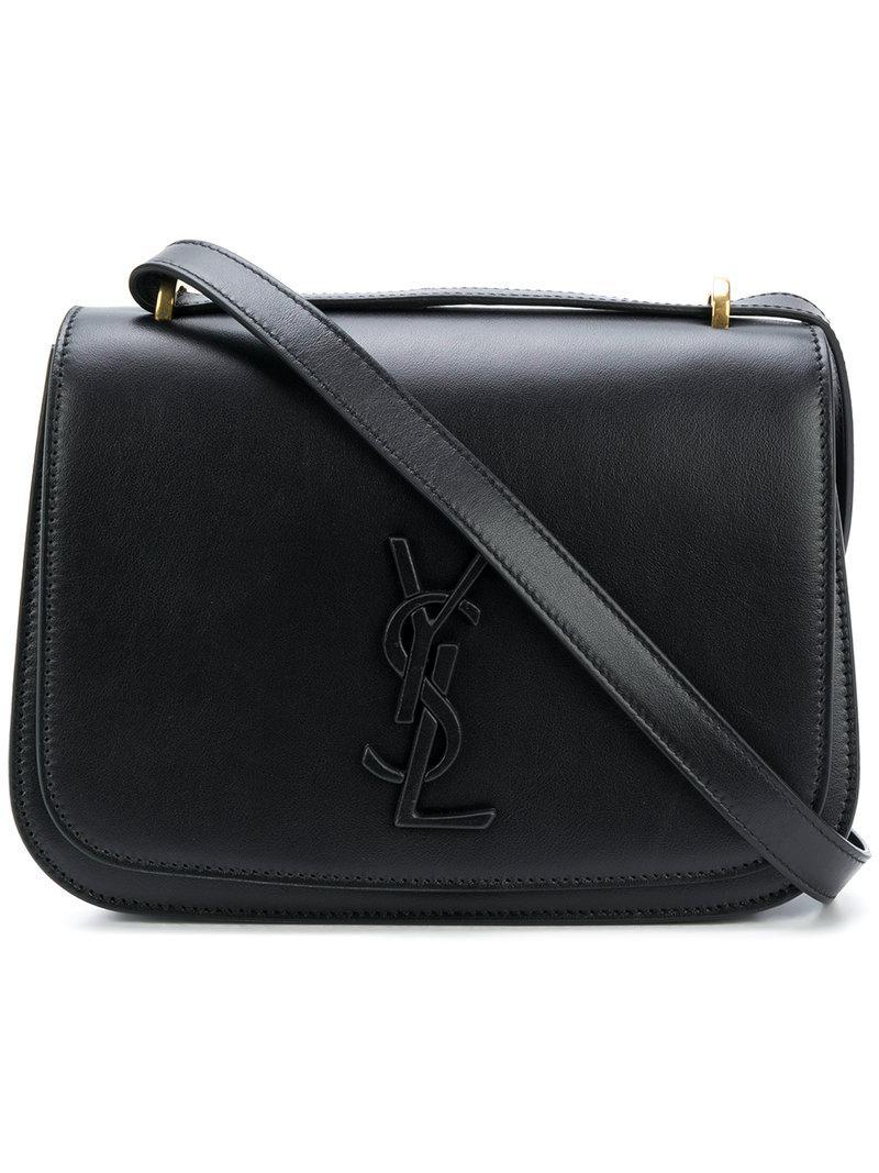 16989abe58 Lyst - Saint Laurent Spontini Monogram Satchel Bag in Black