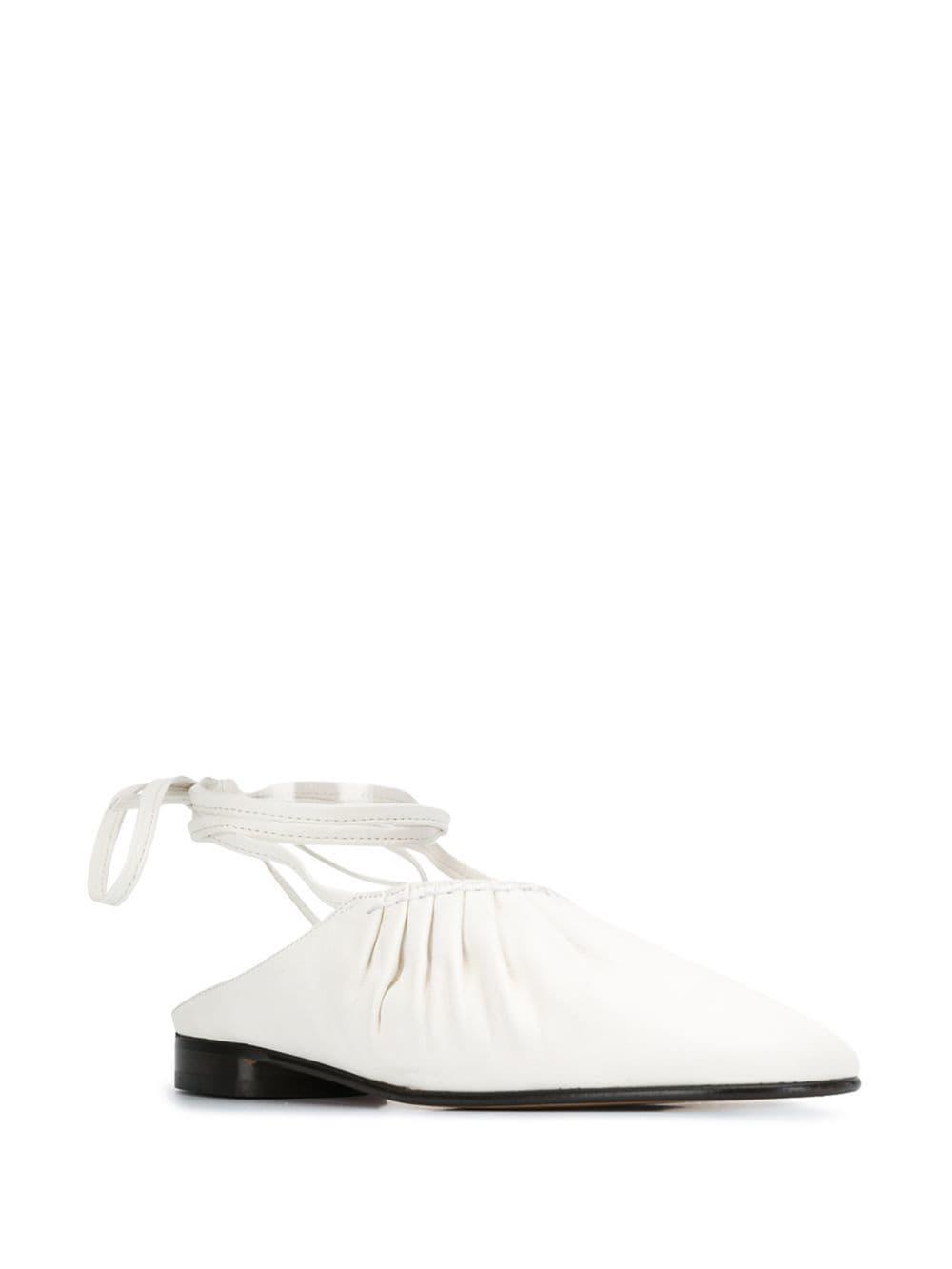 17fad3cd3cb 3.1 Phillip Lim - White Tie Ankle Ballerina Shoes - Lyst. View fullscreen