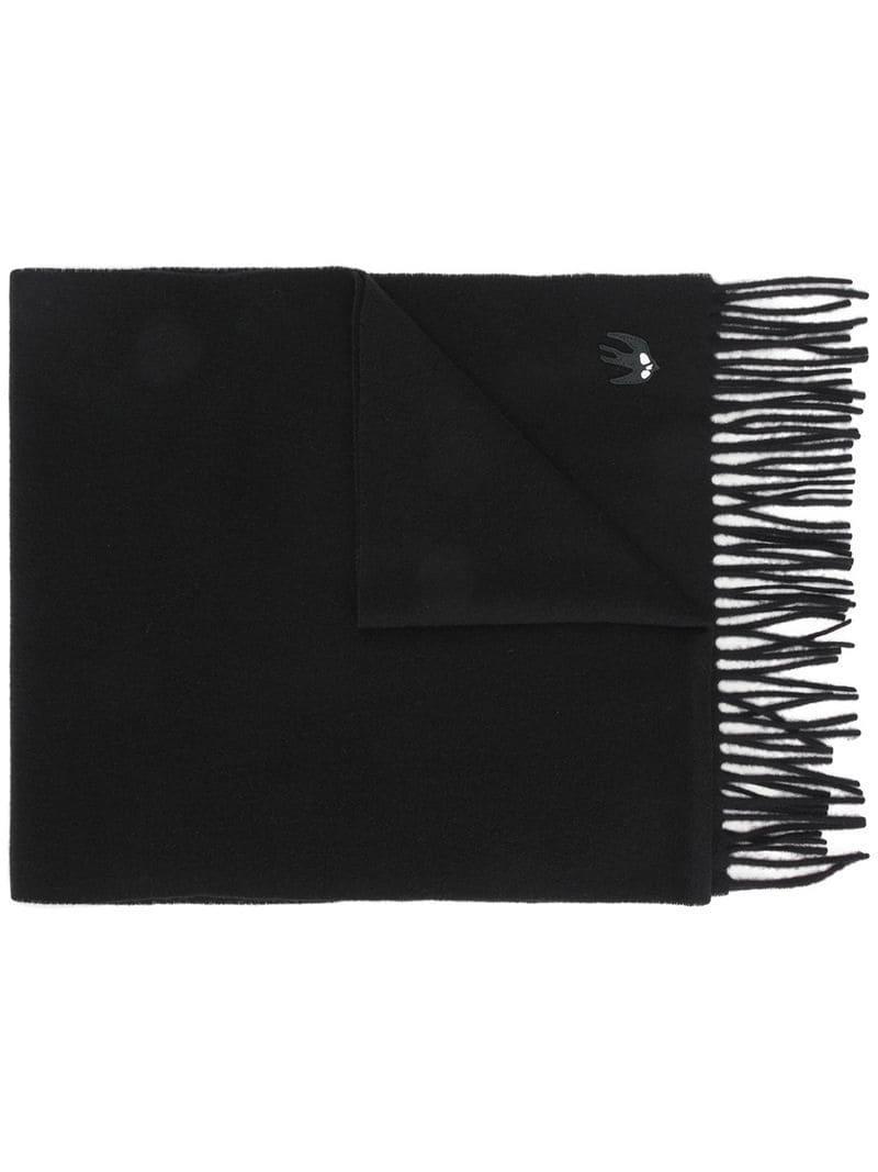Lyst - Écharpe à hirondelle brodée Mcq Alexander Mcqueen en coloris Noir 0ca6af79fee