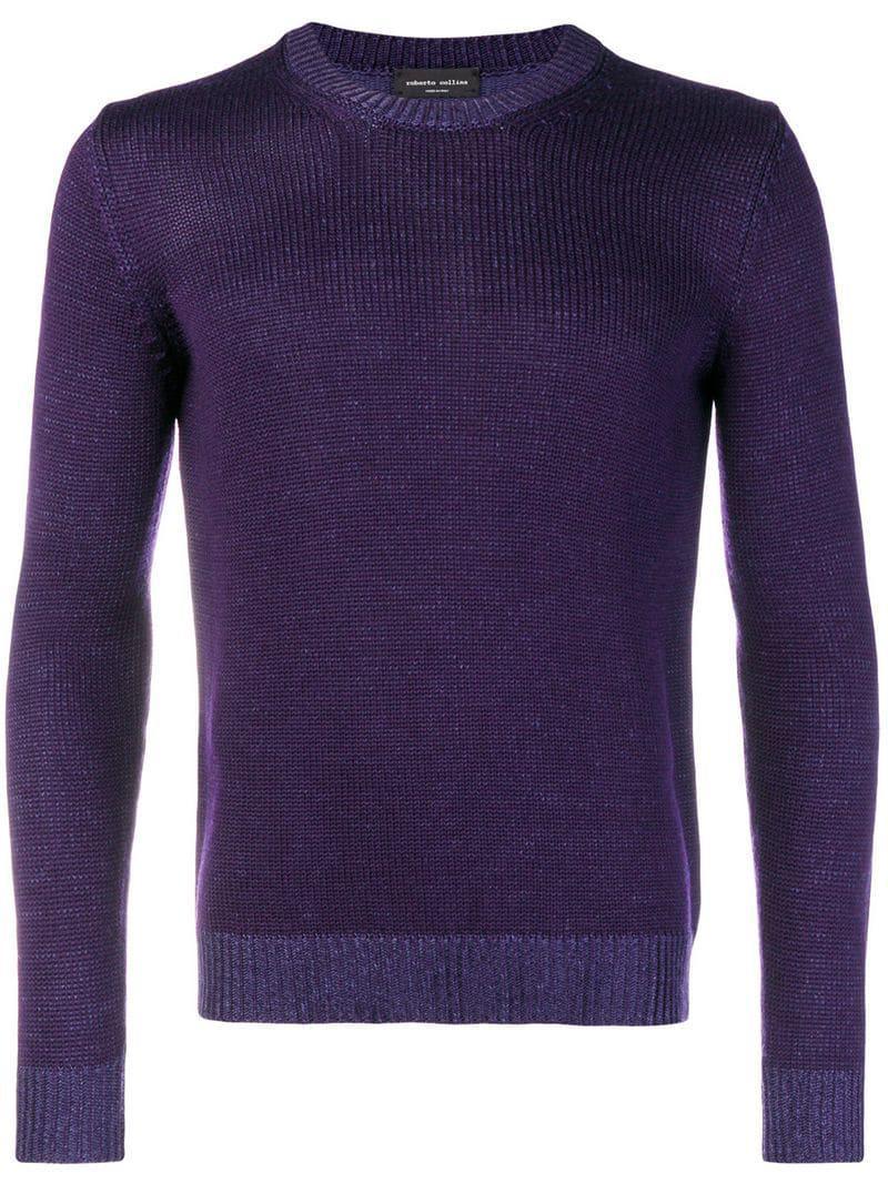 Crew Save In Sweater Neck Collina For Purple Men Lyst Roberto wEqUzPnU7