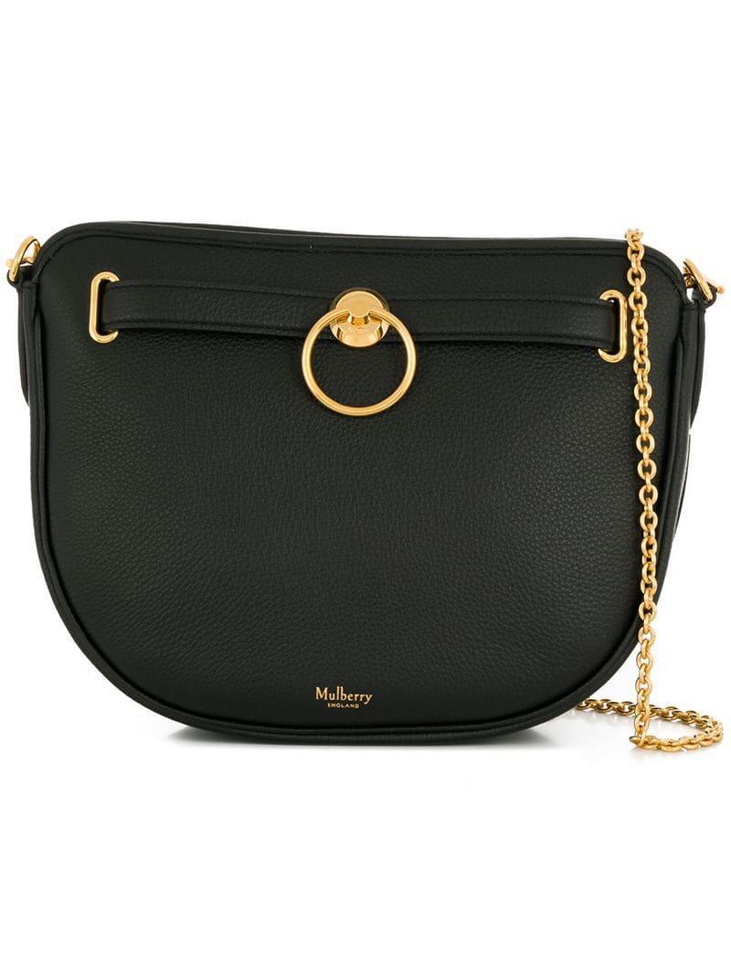 54d0313402ed Mulberry - Black Brockwell Shoulder Bag - Lyst. View fullscreen