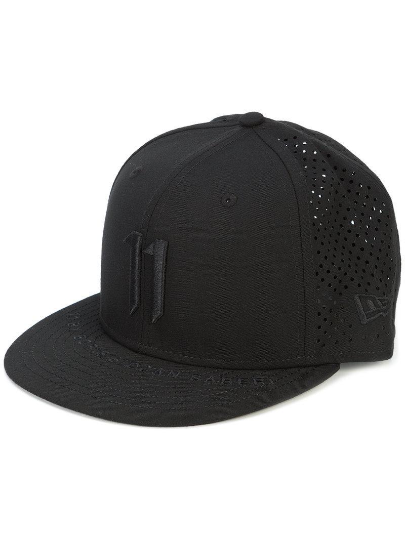 Lyst - Boris Bidjan Saberi 11 Logo Embroidered Cap in Black for Men 6195e1d566df