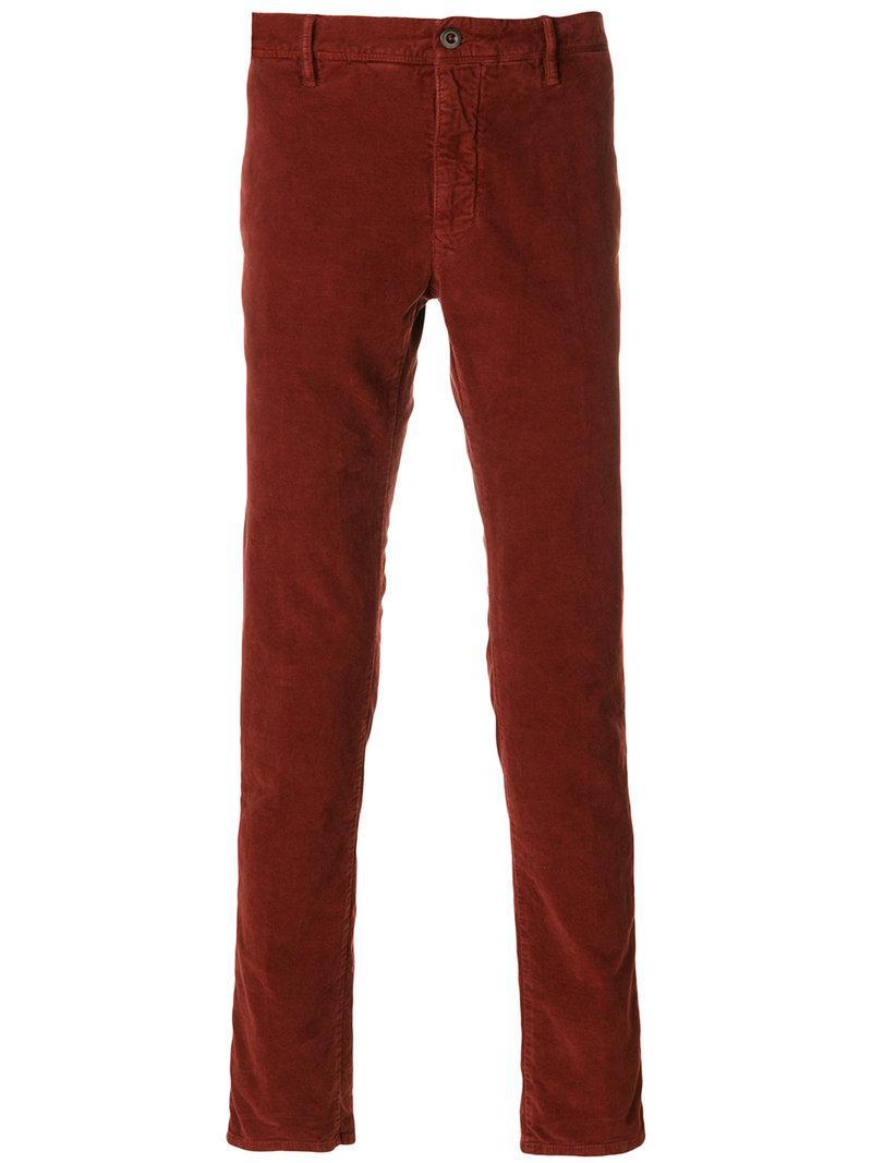 slim fit trousers - Red Incotex POT6VTf