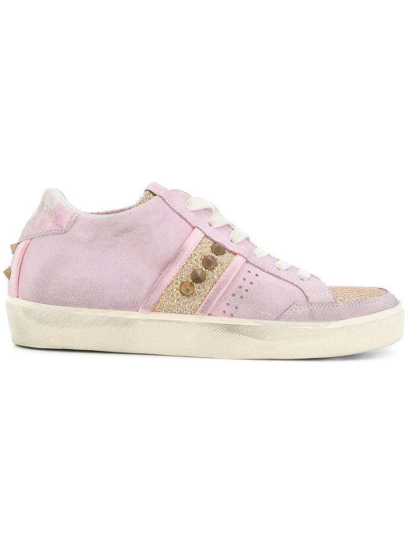 Leather Crown Panelled sneakers sApXBCDU8T