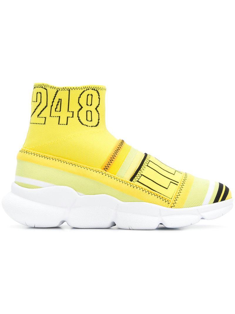 branded sock sneakers - Yellow & Orange Msgm ZCGGbyXo