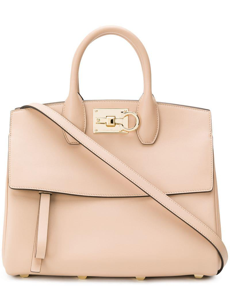 b079190b0b41 Ferragamo The Studio Tote in Natural - Lyst