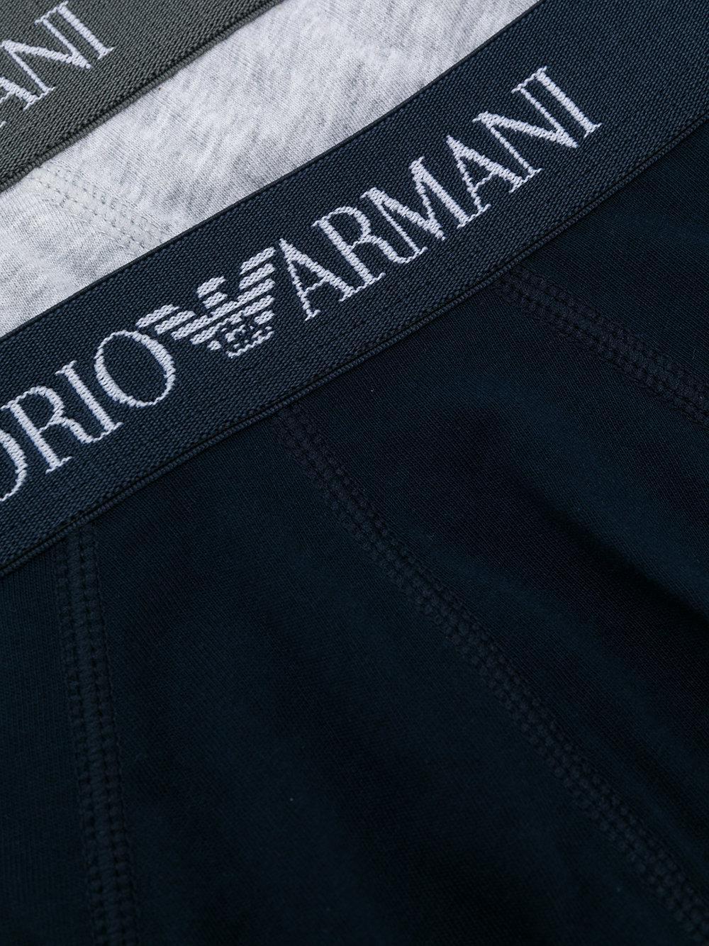 Lyst emporio armani logo band briefs in blue for men - Emporio giorgio armani logo ...