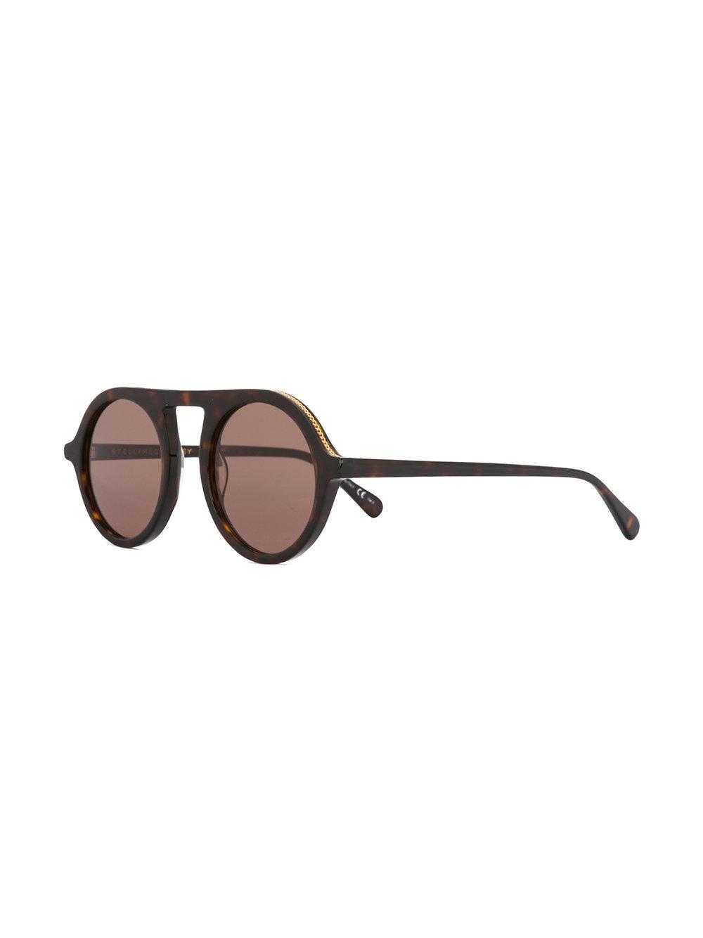 d2a9c2eb9f Stella McCartney - Brown Retro Round Tortoiseshell Sunglasses - Lyst. View  fullscreen