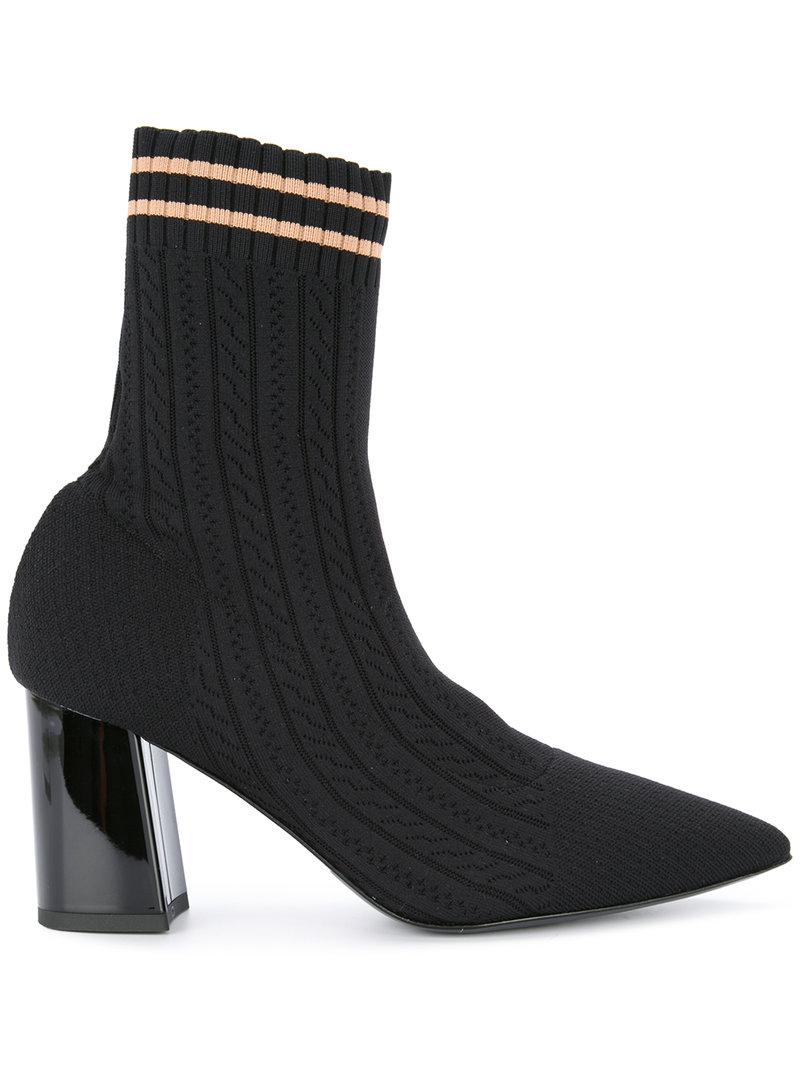 Marc Cain Rib knit sock ankle boots