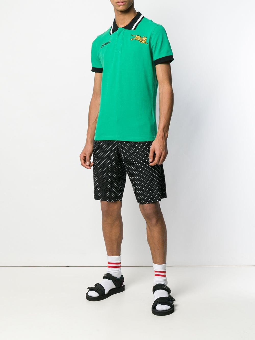 038f6860 Lyst - KENZO Flying Tiger Embroidered Polo Shirt in Green for Men