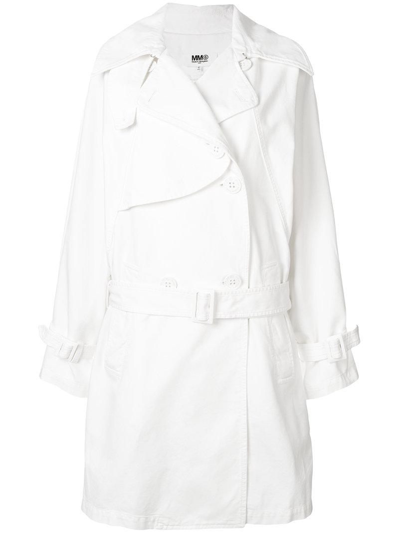 Mm6 Maison Margiela classic trench coat Cheap Real Authentic To Buy Footlocker Finishline Sale Online Buy Cheap Best Sale Perfect Online FgVReu56os