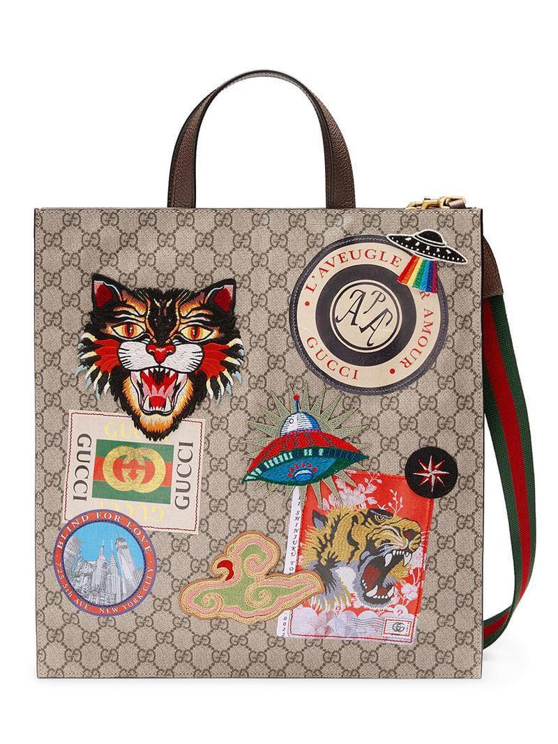 Gucci - Multicolor Bolso tote GG Supreme Courrier for Men - Lyst. Ver en  pantalla completa 374f32f0615
