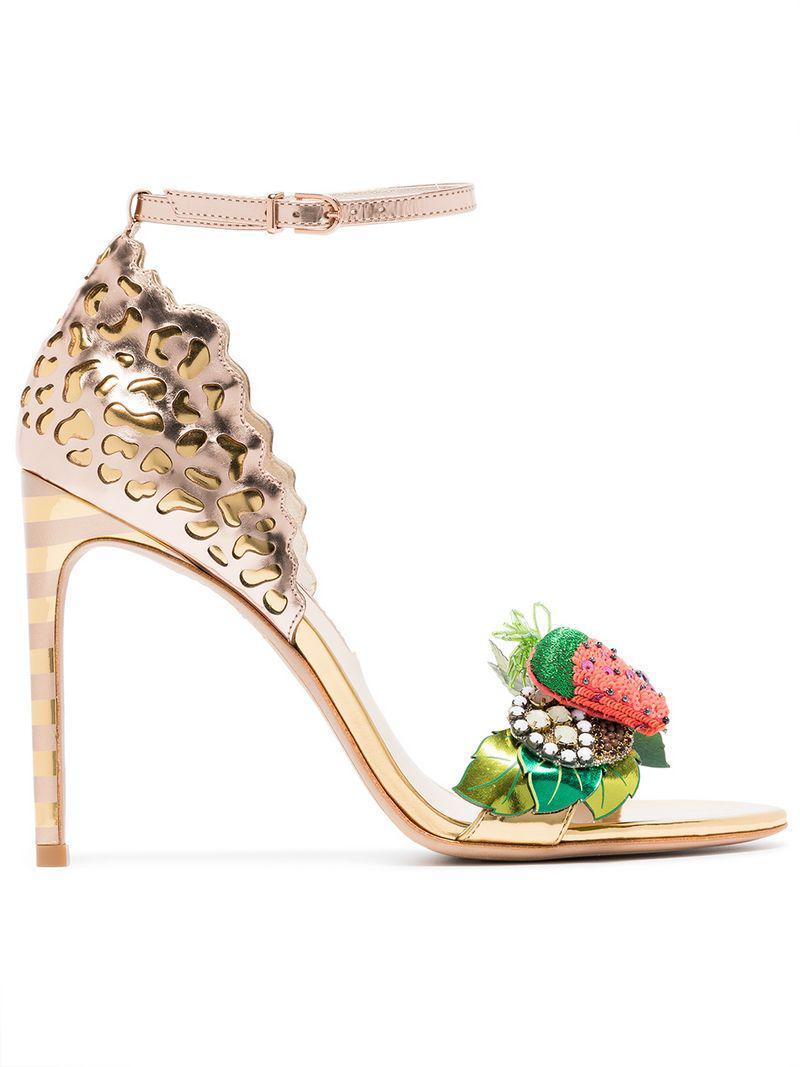 84014380ca6 Sophia Webster. Women s Metallic Multicoloured Lilico Fruit 100 Leather  Sandals