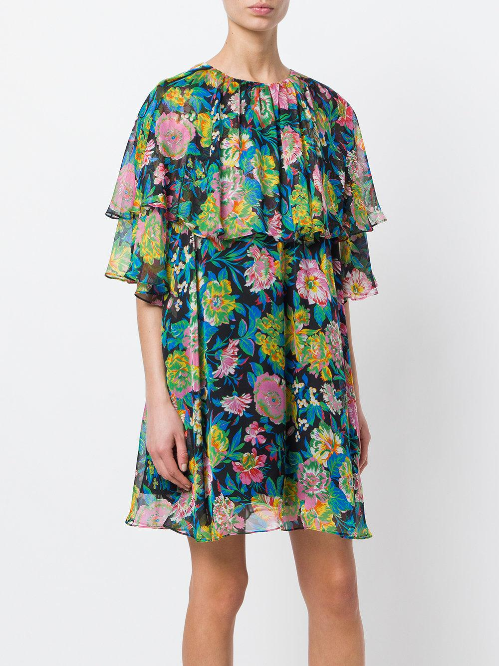 floral print mini dress - Multicolour Msgm